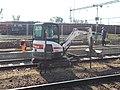 Train station, Bobcat, platform reconstruction, 2018 Dombóvár.jpg