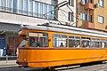 Tram in Sofia near Central mineral bath 2012 PD 010.jpg