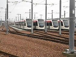 Trams at the depot (geograph 3273521).jpg