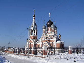 Berdsk - Transfiguration Cathedral in Berdsk, constructed in 2004