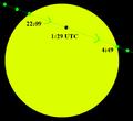 Transit of Venus June 2012 path across sun.png