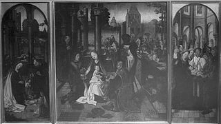 Triptych - Adoration, Nativity and Presentation in the Temple