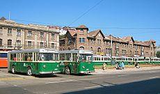 Trolleybuses in Valparaiso.JPG