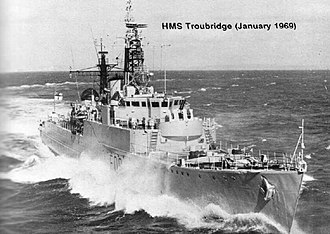 HMS Troubridge (R00) - Troubridge after conversion to Type 15 Frigate