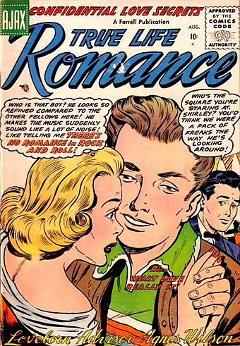 """There's No Romance in Rock and Roll"" made the cover of True Life Romance in 1956 True Life Romance 3.jpg"