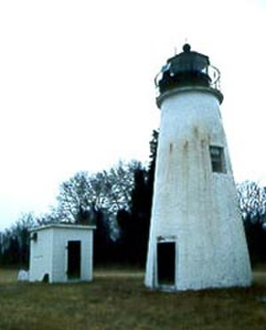Turkey Point Light - Turkey Point Light in 1995, after the house was torn down.