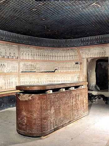 قائمة ملوك مصر (عصر الدولة الحديثة) الاسرة 18 350px-Tuth-grab1