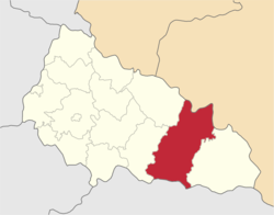 Location of Tjačivas rajons