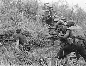"U.S. Marines of ""G"" Company, 2nd Battalion, 7th Marines in action during Operation Allen Brook in South Vietnam, 1968 U.S. Marines in Operation Allen Brook (Vietnam War) 001.jpg"