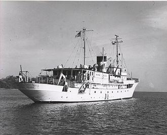 USS Williamsburg - Anton Bruun off the coast of Thailand.