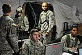 U.S. Soldiers with the 3rd Squadron, 2nd Cavalry Regiment conduct operations in a tactical operations center during a decisive action training environment exercise 121027-A-OY175-001.jpg