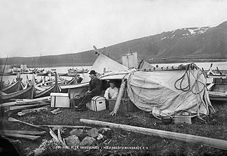 Knud Knudsen (photographer) - Part of a fair in Nordland County, Norway 1875/1876