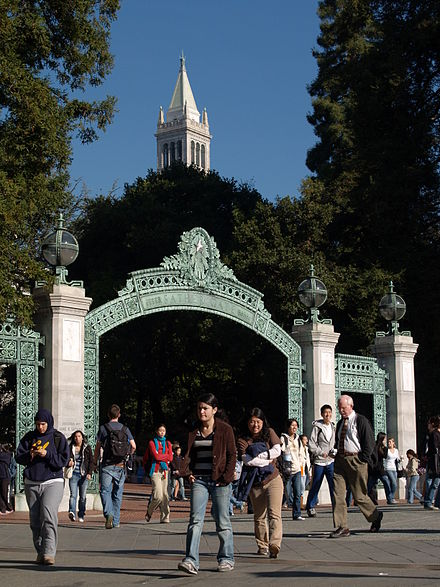 The Campanile and Sather Gate on the UC Berkeley campus UCBerkeleyCampanileSatherGate.jpg