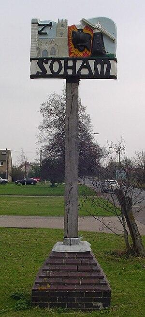 Soham - Signpost in Soham
