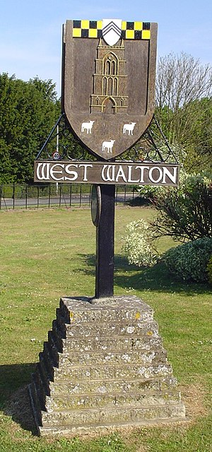 West Walton - Signpost in West Walton