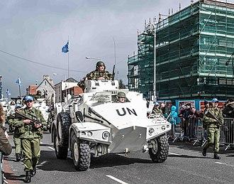Panhard M3 - Irish Panhard M3 in UN colours.