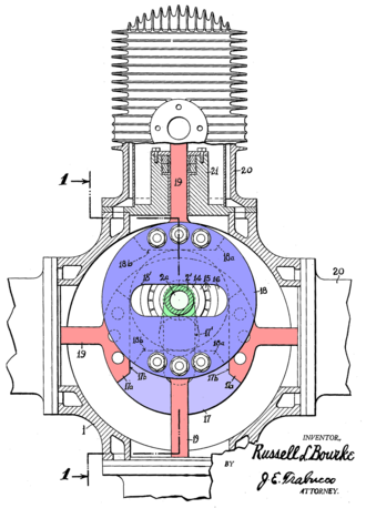 Bourke engine - Figure 2 from Patent US 2172670 A
