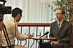 USAID Vietnam Mission Director Joakim Parker answers interview questions from VTC10 (14141330993).jpg