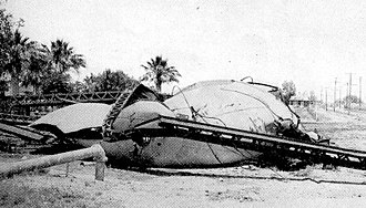 1940 El Centro earthquake - Imperial's 100,000 gallon water tank that collapsed in the earthquake
