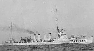 Tucker-class destroyer - Image: USS Tucker DD57