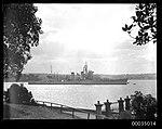 USS ASTORIA at anchor in Farm Cove, Sydney (8629784423).jpg