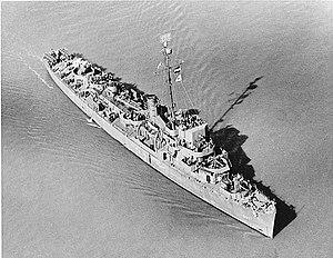 USS Bowers (DE-637) underway in San Francisco Bay on 5 February 1945 (80-G-216256).jpg