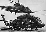 USS Forrestal fire rescue helicopters 1967