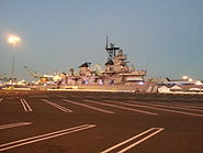 USS Iowa Berthed in San Pedro on 2012-08-19