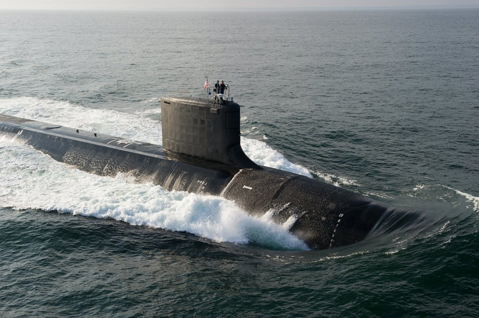 USS North Dakota (SSN-784) at sea in August 2014