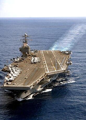 Operation Maritime Guard - Image: USS Theodore Roosevelt at sea