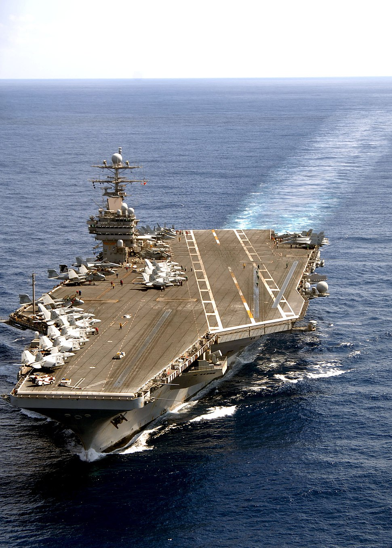 USS Theodore Roosevelt at sea