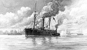 USS Varuna (1861) - Image: USS Varuna drawing