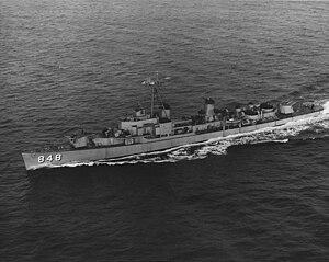 USS Witek (DD-848) underway at sea in the mid-1950s