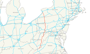 U.S. Route 219 - Image: US 219 map