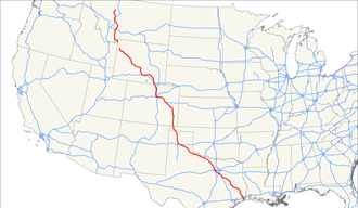 U.S. Route 287 - Image: US 287 map