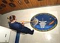US Navy 030417-N-2160C-003 Photographer's Mate Airman Deanna Whitlock from Palmdale, California swabs the USS Mount Whitney (LCC-JCC 20) logo on the ceremonial quarterdeck.jpg