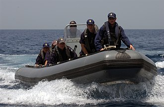 Royal New Zealand Navy - A boarding team from HMNZS Te Mana during the ship's deployment to the Gulf of Oman in 2004