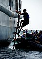 US Navy 070514-N-4044H-006 Personnel from Naval Special Warfare Unit 2 board the salvage ship USNS Grasp (T-ARS 51).jpg