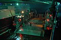 US Navy 070620-N-4010S-081 A landing craft air cushion (LCAC) arrives in the well deck of amphibious assault ship USS Essex (LHD 2) to onload Marines and their equipment during a nighttime beach assault.jpg