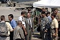 US Navy 070808-N-3642E-342 Secretary of the Navy (SECNAV) the Honorable Dr. Donald C. Winter tours the site of the fatal Interstate 35W bridge collapse.jpg