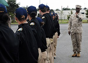 South Kitsap High School - A ROTC session at South Kitsap High School