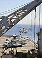 US Navy 100704-N-1082Z-012 A CH-53E Super Stallion helicopter from the Golden Eagles of Marine Medium Tiltrotor Squadron (VMM) 162 (Reinforced), prepares to land aboard the amphibious dock landing ship USS Ashland (LSD 48).jpg