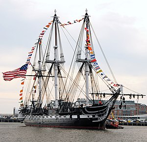 Charles Guillou - Image: US Navy 101021 N 7642M 317 USS Constitution returns to her pier after an underway to celebrate her 213th launching day anniversary