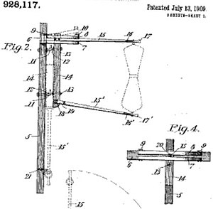 Catcher pouch - Image: US Patent 928,117 drawing