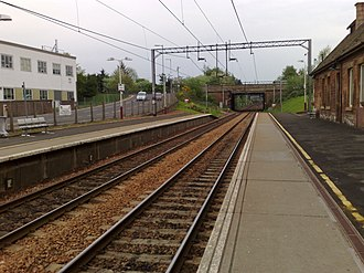 Uddingston railway station - Image: Uddingston railway station in 2008