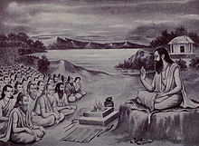 Ugrashravas narrating Mahābhārata before the sages gathered in Naimisha Forest.jpg