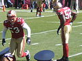 Ulbrich & Willis on field pregame at Eagles at 49ers 10-12-08.JPG