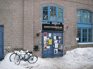 Academy of Fine Arts, Umeå - Entrance