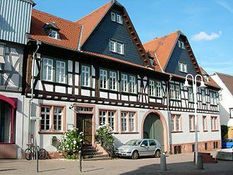Groß-Umstadt - Wooden framed homes on Schwanengasse
