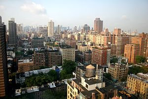 View of the Upper East Side, New York, from 96...